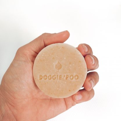 Dog Sahmpoo Bar fits in the palm of your hand